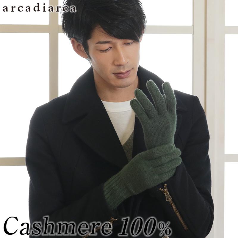 カシミヤ100% メンズ 手袋 フリーサイズ (バレンタイン アルカディアルカ カシミア100% 男性 紳士 手ぶくろ グローブ カシミア 防寒 ファッション プレゼント 贈り物 ギフト 防寒グッズ 寒さ対策) 【在庫限り】