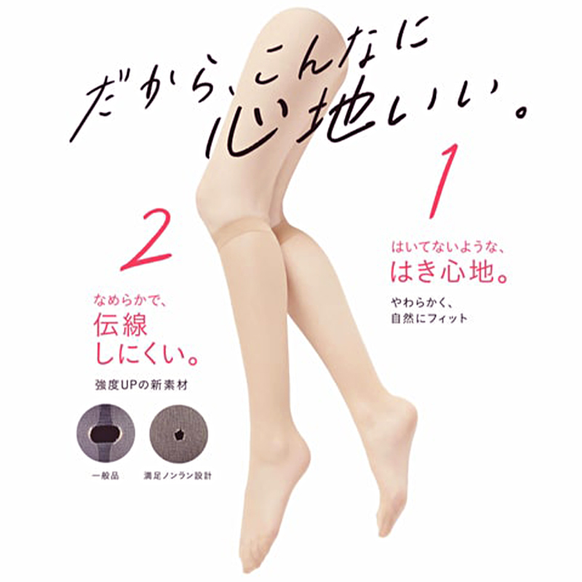 福助 満足 ショートストッキング 美しく心地いい ひざ下丈 22-25cm (フクスケ レディース 伝線しにくい)