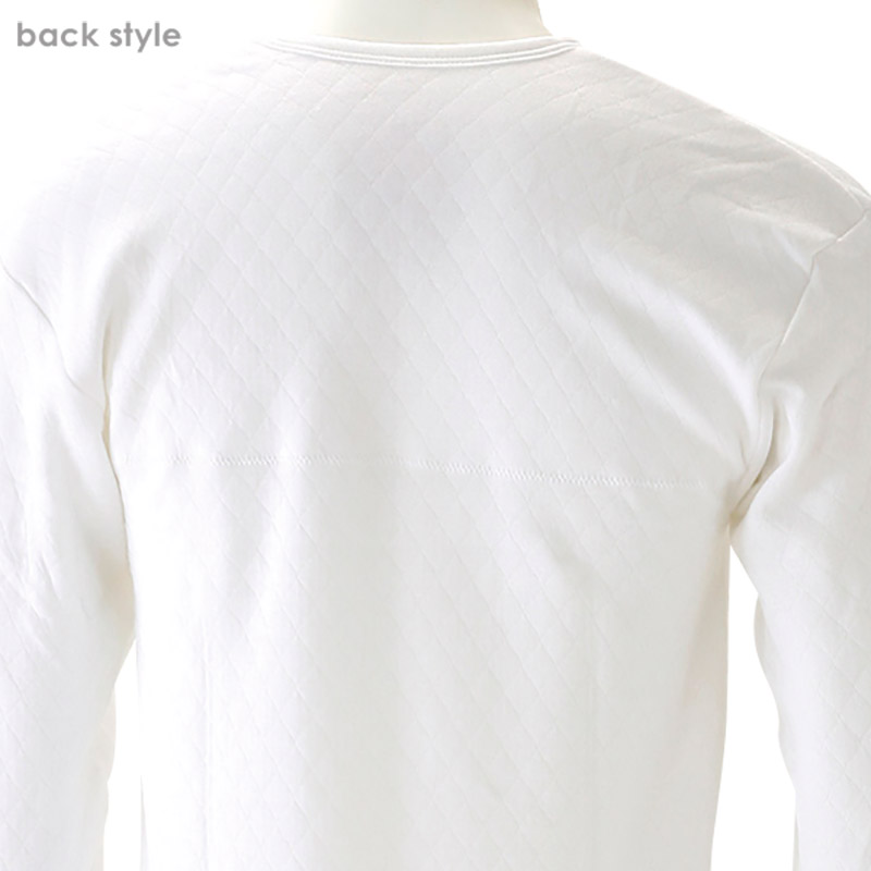 メンズ 長袖U首シャツ キルトシャツ M〜LL (男性 紳士 肌着 防寒 長袖 インナー キルトインナー ロンT 長袖シャツ あったか あたたかい 冬 M L LL) 【在庫限り】