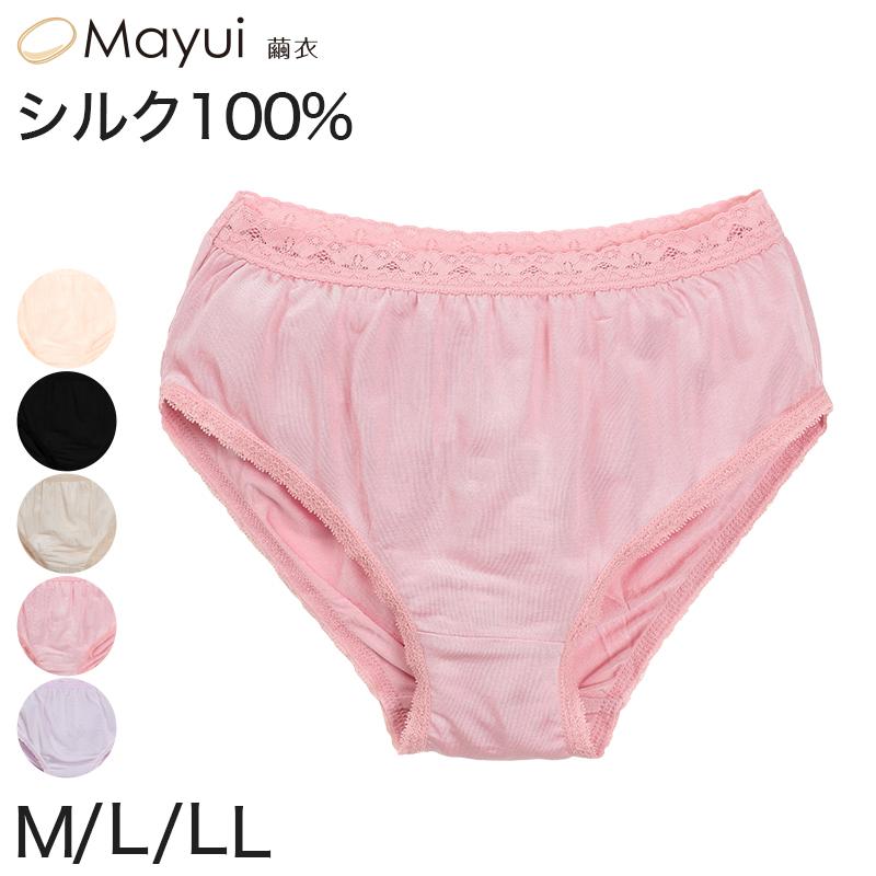 シルク100% レースショーツ M〜LL