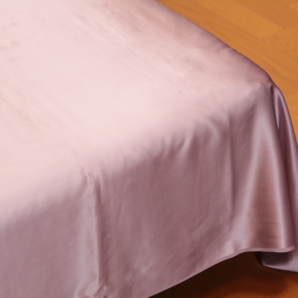 繭衣 シルク100% 19匁シルクサテンフラットシーツ シングルサイズ (140cm×300cm) (Mayui シルクサテン 寝具 ギフト プレゼント)[FD2006](送料無料)