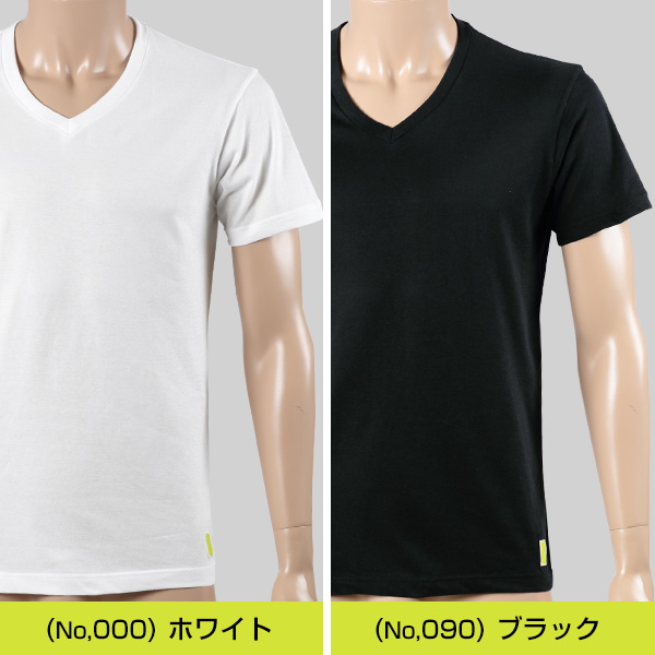 adidas 紳士 吸水速乾 VネックTシャツ 2枚組 M〜LL (フクスケ アディダス)