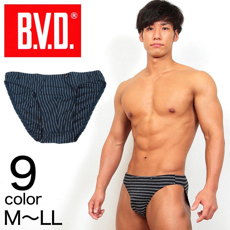 BVD メンズ ビキニブリーフ M〜LL (メンズ インナー パンツ ボトムス 下着 男性 紳士 レッド ブラック ネイビー グレー ボーダー セクシー M L LL)