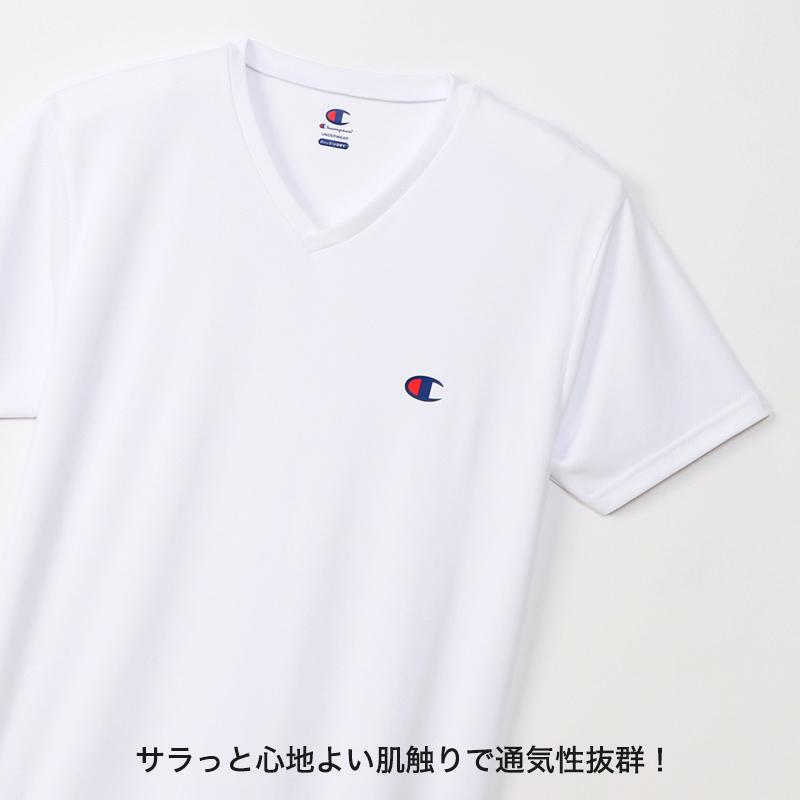 ヘインズ Champion メンズ Tシャツ メッシュ VネックTシャツ M〜LL (チャンピオン 男性 紳士 肌着 トップス インナー シャツ 吸汗 速乾 半袖 V首 Vネック)