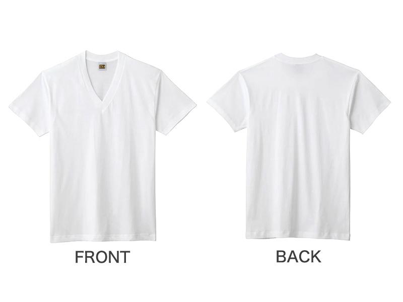 グンゼ G.T.HAWKINS 綿100% VネックTシャツ 2枚組 M〜LL (GUNZE GTホーキンス メンズ 下着 Tシャツ tシャツ 半袖 男性 紳士 V首 肌着 インナー M L LL)