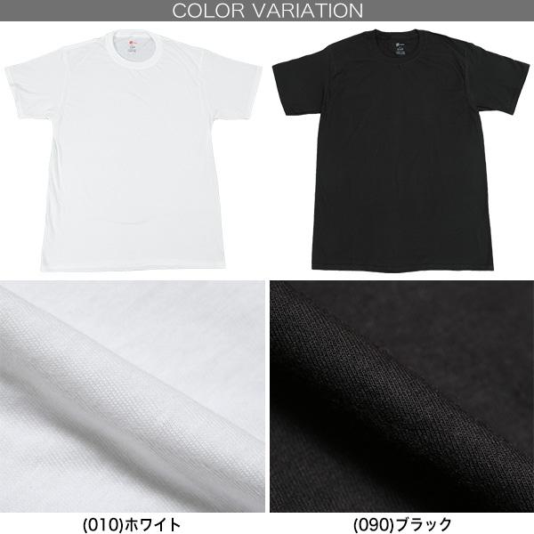 ヘインズ メンズ リングスパン クルーネック Tシャツ 3枚組 M〜LL (Hanes 紳士 インナー 半袖 シャツ 丸首 綿100% 綿 コットン セット 白 黒)