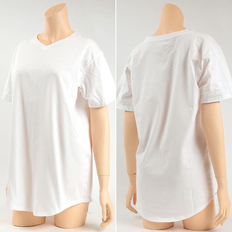 Hanes Undies ビッグTシャツ フリーサイズ(M-L) (レディース コットン Vネック ヘインズ)