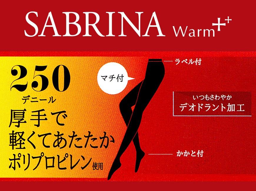 グンゼ SABRINA 250デニール タイツ ポリプロピレンタイツ M-L・L-LL (GUNZE サブリナ Warm+ レディース 婦人 防寒 あったか 暖かい 冬 厚手 消臭)